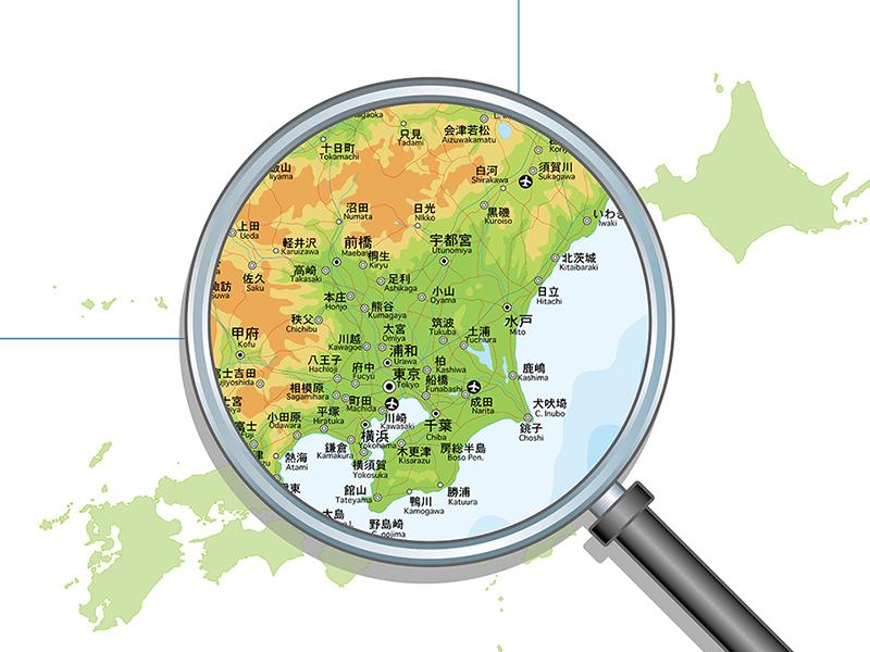 関東エリアの地図